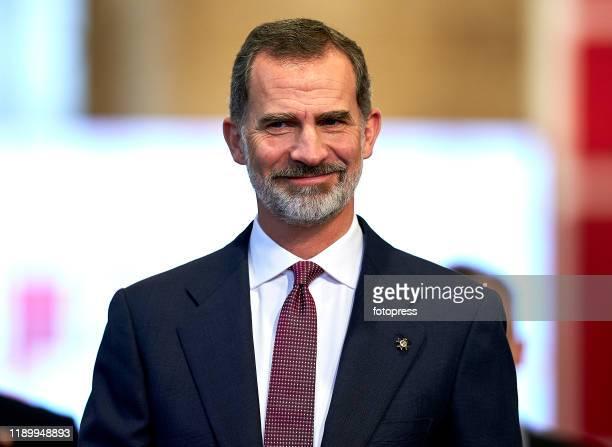 King Felipe VI of Spain attends 'Rey Jaime I Awards' at Lonja de los Mercaderes on November 25, 2019 in Valencia, Spain