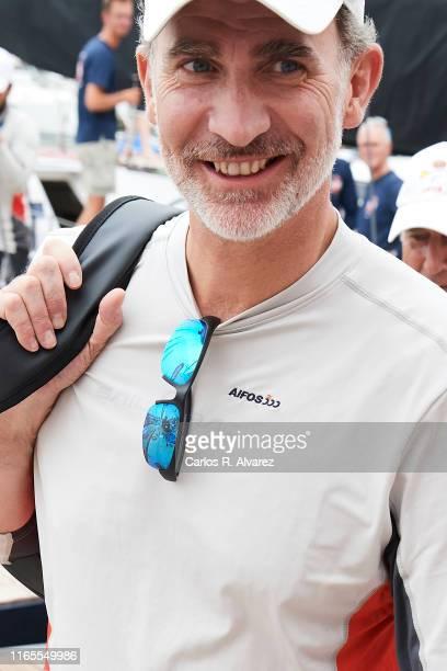 King Felipe VI of Spain attends the 38th Copa del Rey Mapfre Sailing Cup on August 01, 2019 in Palma de Mallorca, Spain.