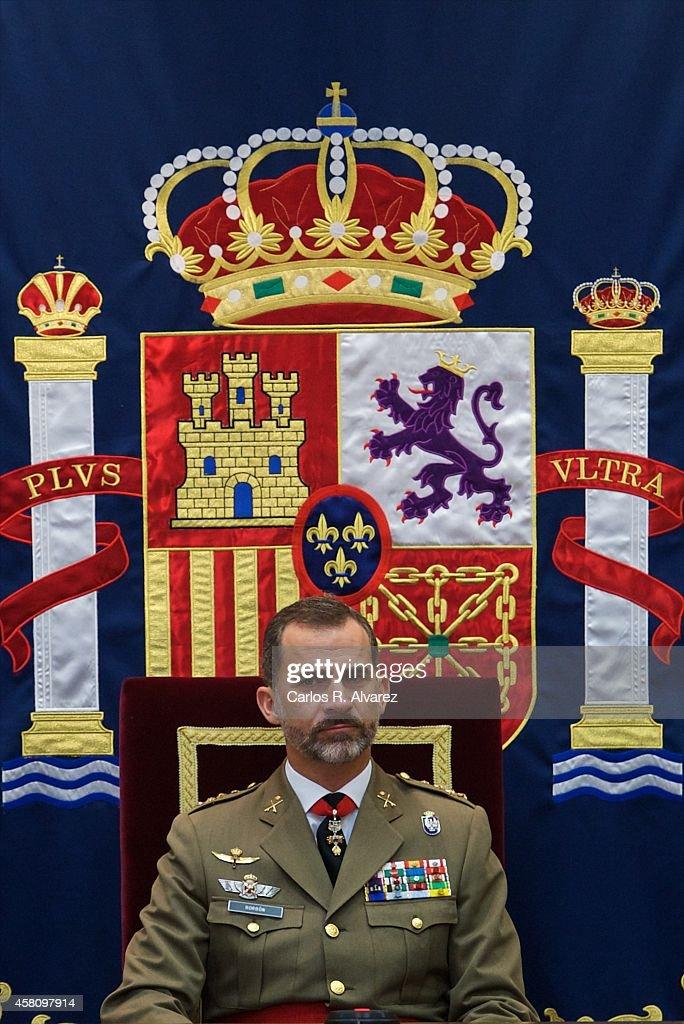 King Felipe VI of Spain attends the 50th anniversary of CESEDEN on October 30, 2014 in Madrid, Spain.