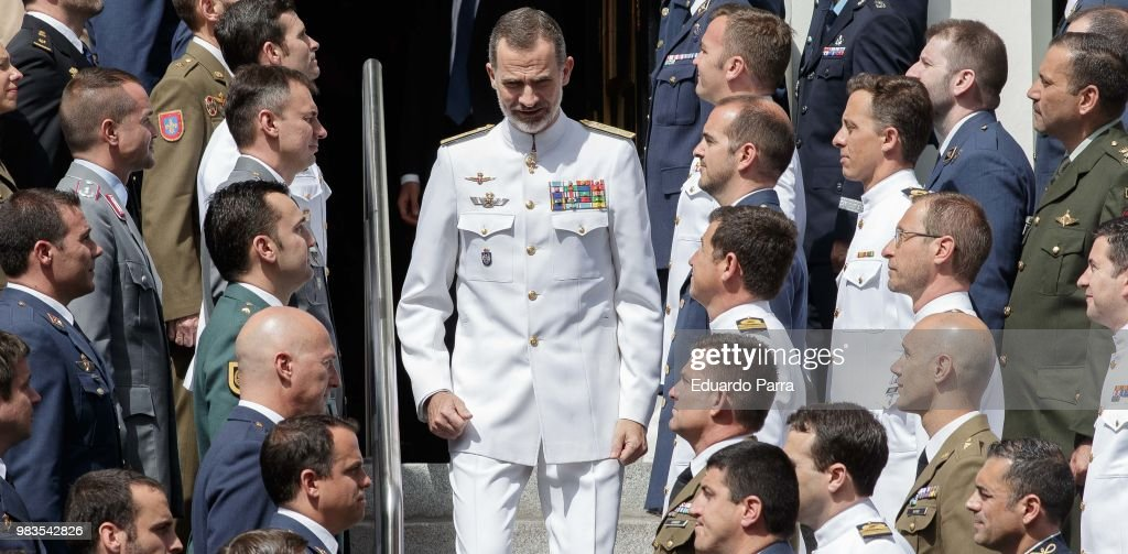 King Felipe of Spain Attends The Closure Of A Military Course