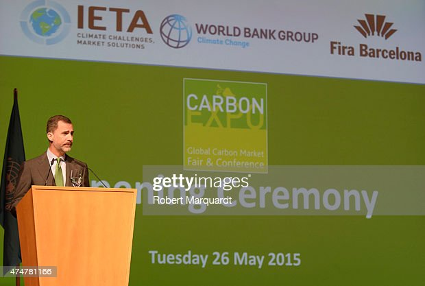 King Felipe of Spain Attends 'Coal Fair 2015' Opening in Barcelona : News Photo