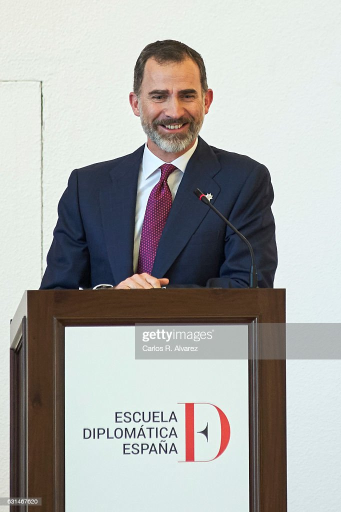 King Felipe Of Spain Delivers The Secretary's Offices To New Promotion Of Diplomatics