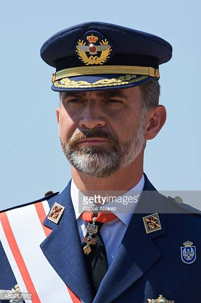 King Felipe VI of Spain attends the delivery of actual employment office at General Air Force Academy on July 14 2015 in San Javier Murcia Spain