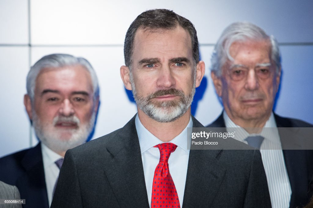 King felipe VI of Spain attends the 'El Valor Economico del Espanol' conference at Telefonica Foundation on February 13, 2017 in Madrid, Spain.