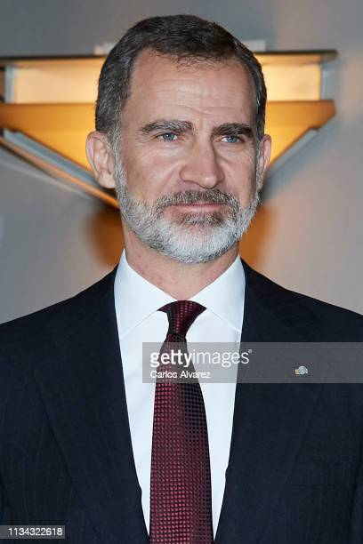 King Felipe VI of Spain attends the 'In Memoriam' concert at the National Auditorium on March 07, 2019 in Madrid, Spain.