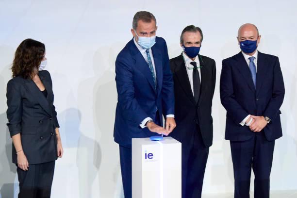 ESP: King Felipe Of Spain Inaugurates IE Tower In Madrid