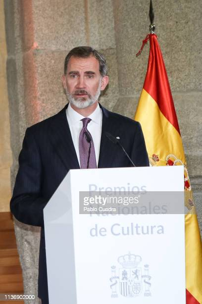 King Felipe VI of Spain attends the National Culture Awards at El Prado Museum on March 19 2019 in Madrid Spain