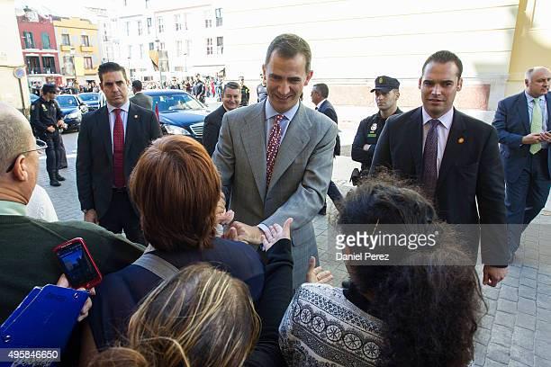 King Felipe VI of Spain attends the National Innovation and Design Awards 2015 on November 5 2015 in Malaga Spain
