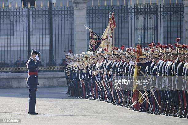 King Felipe VI of Spain attends the Pascua Militar ceremony at the Royal Palace on January 6 2017 in Madrid Spain