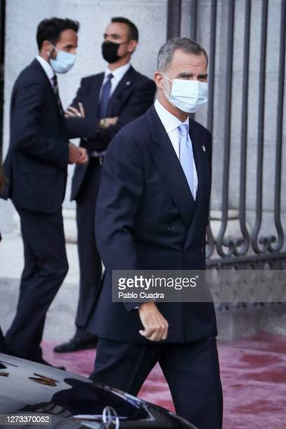 King Felipe VI of Spain attends the Royal Theatre season inauguration on September 18 2020 in Madrid Spain