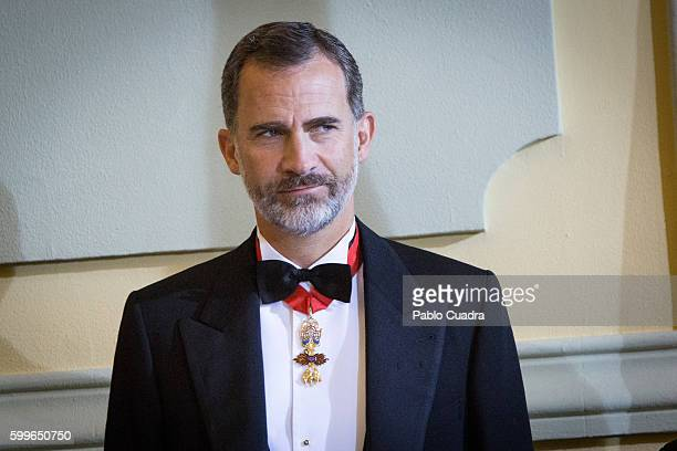 King Felipe VI of Spain attends the start of the judiciary year 2016/2017 at the Supreme Court on September 6, 2016 in Madrid, Spain.
