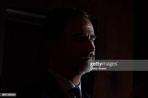 King Felipe VI of Spain attends the 'XXVI Musical Week' closing concert at the Principe Felipe Auditorium during the 'Princess of Asturias 2017...