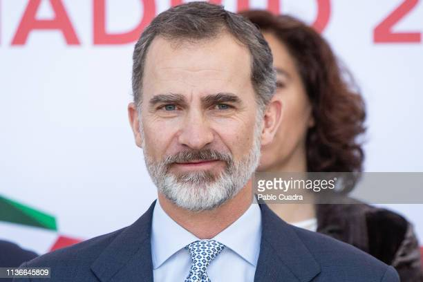 King Felipe VI of Spain attends the XXXVIII Harvard World Model United Nations on March 18 2019 in Madrid Spain
