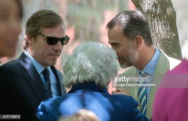 King Felipe VI of Spain Beltran GomezAcebo and Princess Pilar attend attends the First Communion of Luis and Laura GomezAcebo on May 23 2015 in...