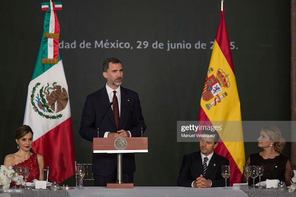 King Felipe VI and Queen Letizia of Spain Visit Mexico - Day 1