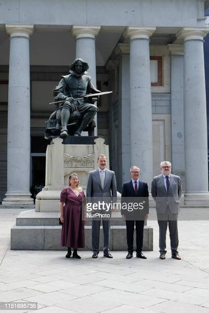 King Felipe VI of Spain inaugurates 'Velazquez, Rembrandt, Vermeer. Miradas Afines' exhibition at El Prado Museum on June 24, 2019 in Madrid, Spain.