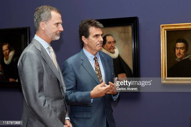 King Felipe VI of Spain inaugurates 'Velazquez Rembrandt Vermeer Miradas Afines' exhibition at El Prado Museum on June 24 2019 in Madrid Spain