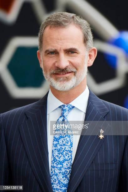 King Felipe VI of Spain is seen at the Innovation and Design National awards 2019 at Ciudad de las Artes Y Las Ciencias on July 03, 2020 in Valencia,...