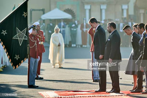 King Felipe VI of Spain, King Mohammed VI of Morocco, Prince Moulay Hassan of Morocco, Queen Letizia of Spain and Prince Moulay Rachid of Morocco...