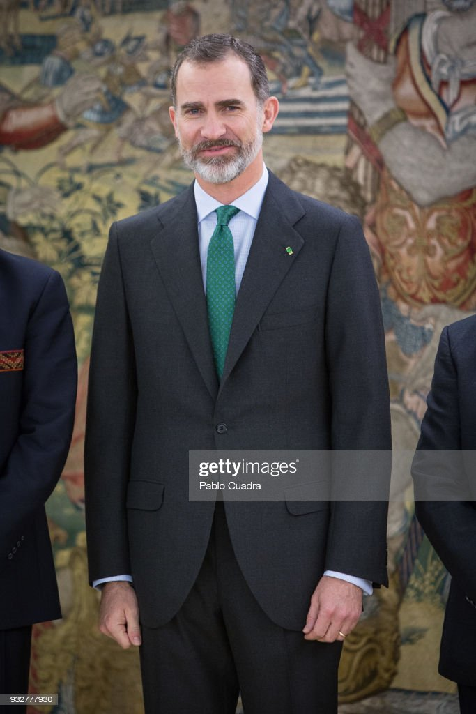 King Felipe Of Spain Meets President Of Bolivia Evo Morales
