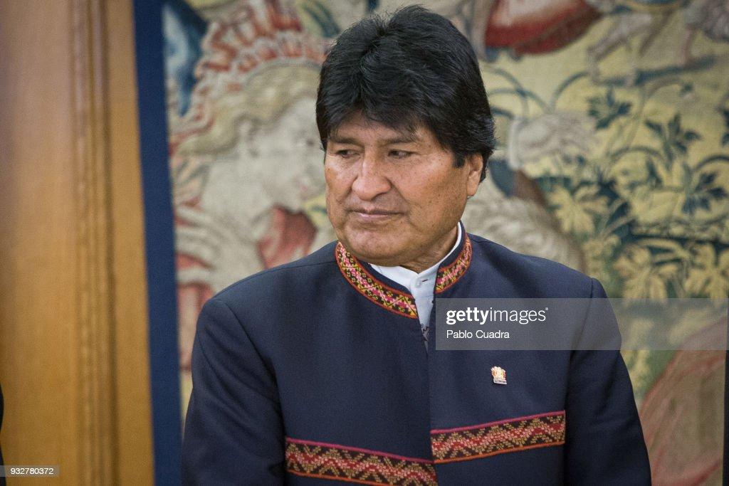 King Felipe Of Spain Meets President Of Bolivia Evo Morales