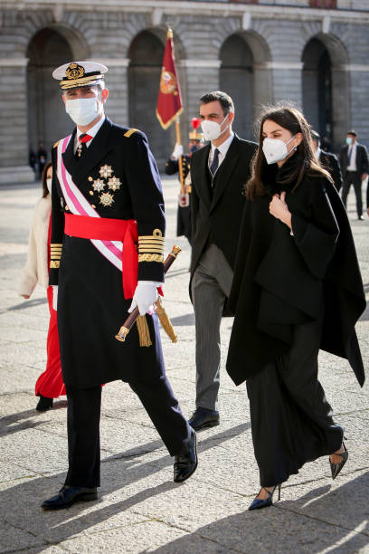 ESP: Spanish Royals Celebrate New Year's Military Parade 2021