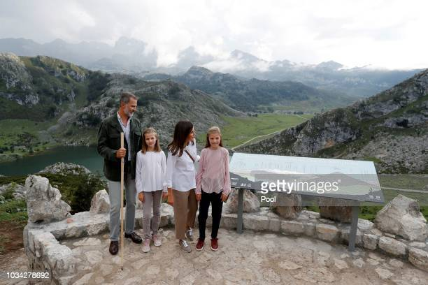 King Felipe VI of Spain Princess Leonor of Spain Queen Letizia of Spain and Princess Sofia of Spain attend the Centenary of the creation of the...