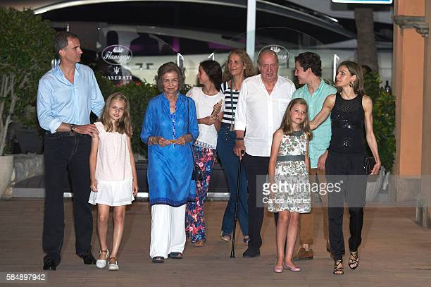 King Felipe VI of Spain Princess Leonor of Spain Queen Sofia Victoria Federica Marichalar Princess Elena of Spain King Juan Carlos Princess Sofia of...