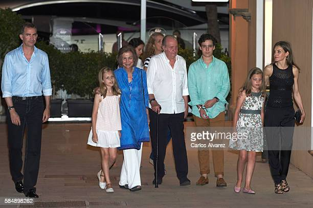 King Felipe VI of Spain Princess Leonor of Spain Queen Sofia Victoria Federica Marichalar Princess Elena of Spain King Juan Carlos Felipe Juan...