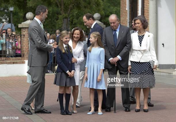 King Felipe VI of Spain Princess Sofia of Spain Paloma Rocasolano Konstantin of Bulgari Princess Leonor of Spain King Juan Carlos and Queen Sofia...