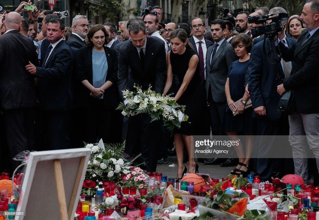 Memorial for Barcelona terror attack victims : News Photo