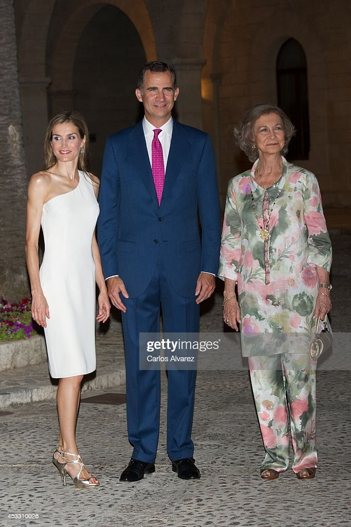 Spanish Royals Attend Official Dinner With Authorities in Palma de Mallorca : News Photo