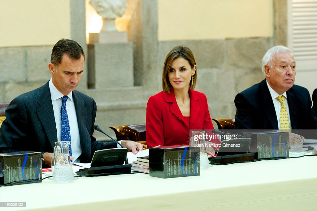 Spanish Royals Attend the Cervantes Institute Annual Meeting : News Photo
