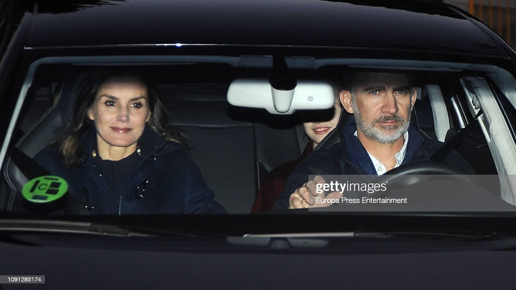Spanish Royals Spend 'The Wise Men's Day' With Queen Letizia's Father : News Photo