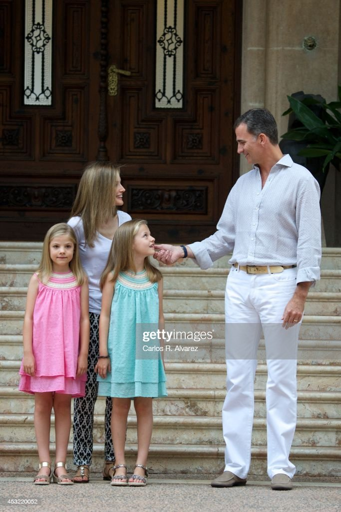 Spanish Royals Arrive at Palma de Mallorca
