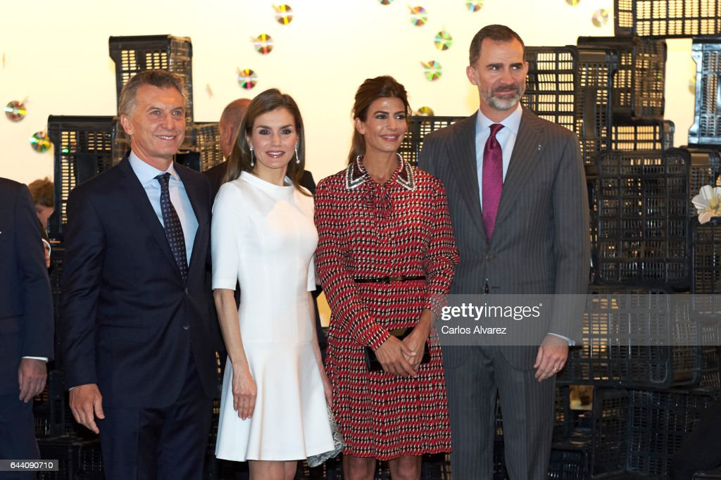 Spanish Royals and President Mauricio Macri Attend ARCO Opening : News Photo