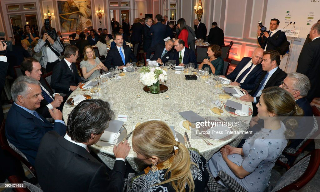 Spanish Royals Attend 60th Anniversary Of Europa Press Agency : News Photo