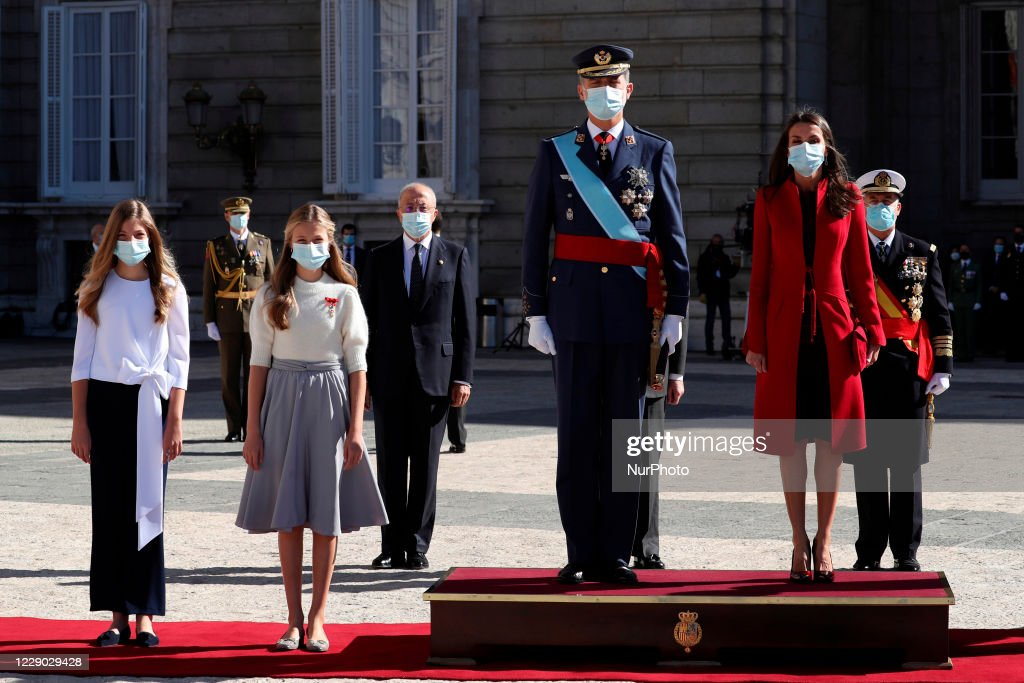 Queen Letizia, King Felipe and family celebrate Spain's National Day : News Photo