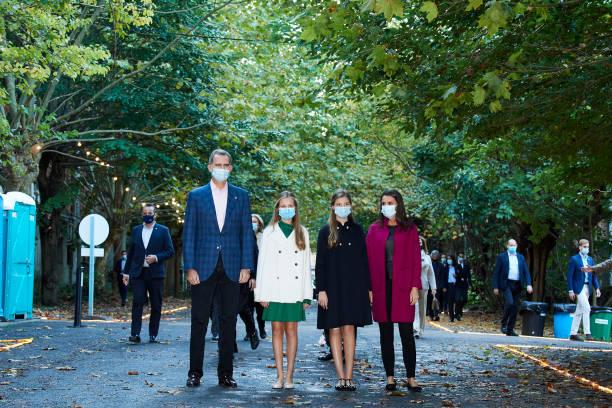 ESP: Spanish Royals Visit 'FPAbrica' - Princesa de Asturias Awards 2020