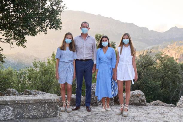 ESP: Spanish Royals Visit The Interpretation Center Of 'Sierra De Tramuntana' And The Lluc Sanctuary