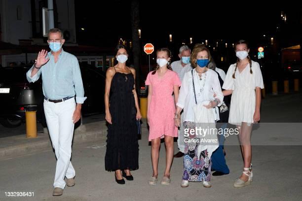 King Felipe VI of Spain, Queen Letizia of Spain, Crown Princess Leonor of Spain, Princess Sofia of Spain, Queen Sofia and Princess Irene of Greece...