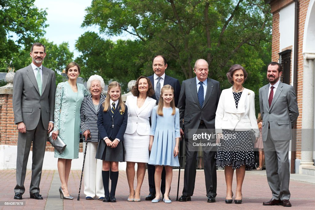 Spanish Royals Attend Their Daughter Sofia's First Communion