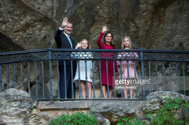 Princess Leonor of Spain King Felipe VI of Spain Queen Letizia of Spain and Princess Sofia of Spain attend the Centenary of the creation of the...