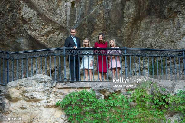 King Felipe VI of Spain, Queen Letizia of Spain, Princess Leonor of Spain and Princess Sofia of Spain attend the Centenary of the Catholic Coronation...
