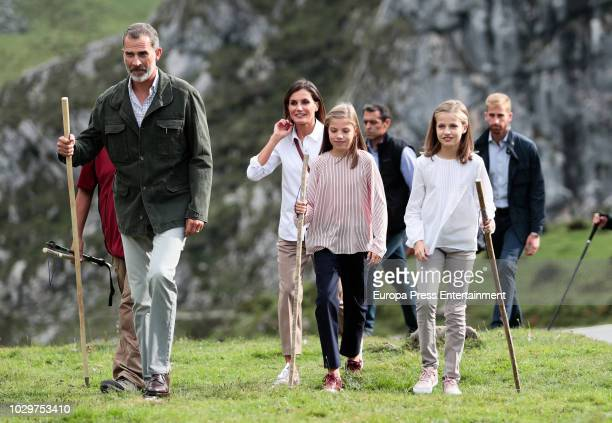 King Felipe VI of Spain, Queen Letizia of Spain, Princess Leonor of Spain and Princess Sofia of Spain attend the Centenary of the creation of the...
