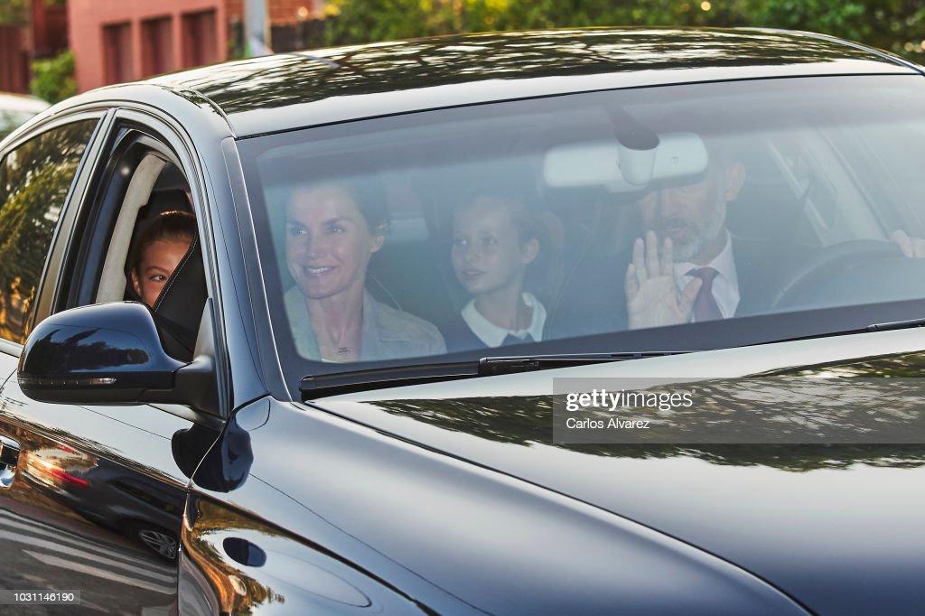 Princess Leonor And Princess Sofia Start School