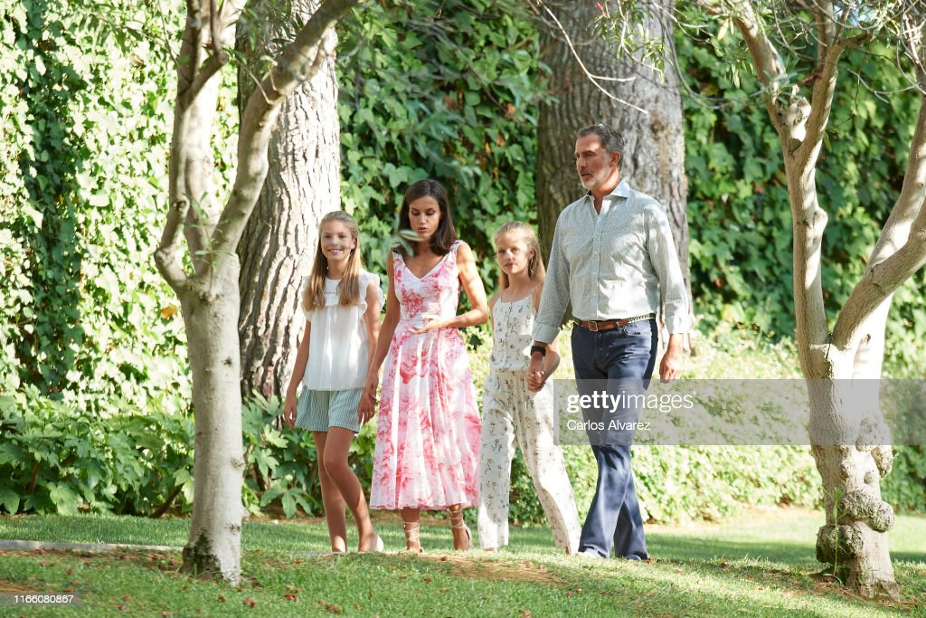 Spanish Royals Summer Photocall In Palma de Mallorca : ニュース写真