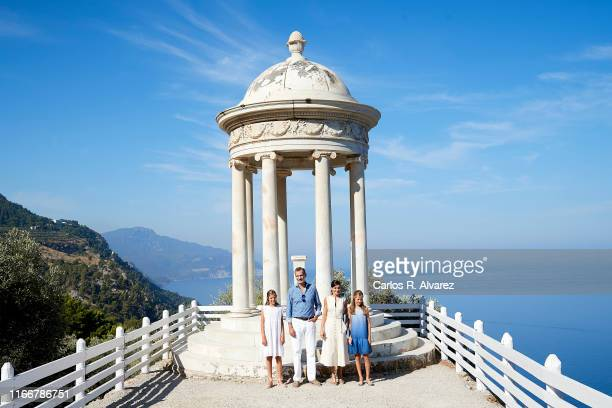 King Felipe VI of Spain, Queen Letizia of Spain, Princess Leonor of Spain and Princess Sofia of Spain visit 'Son Marroig' museum on August 08, 2019...