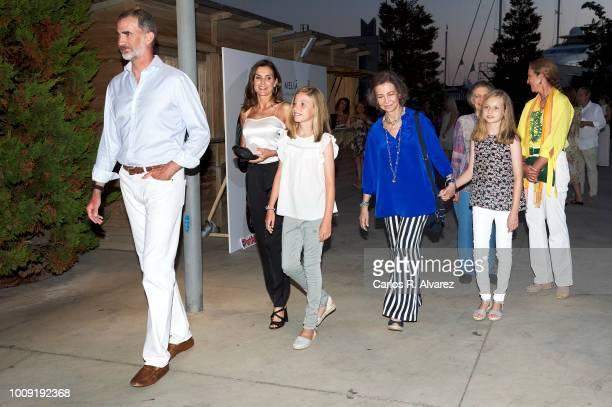 King Felipe VI of Spain Queen Letizia of Spain Princess Sofia of Spain Queen Sofia Princess Leonor of Spain Princess Irene of Greece and Princess...