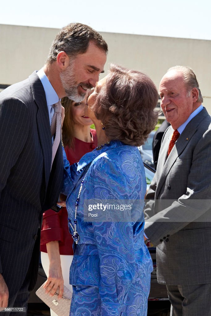 King Felipe VI of Spain, Queen Letizia of Spain, Queen Sofia and King Juan Carlos attend the 40th anniversary of Reina Sofia Alzheimer Foundation on May 22, 2017 in Madrid, Spain.